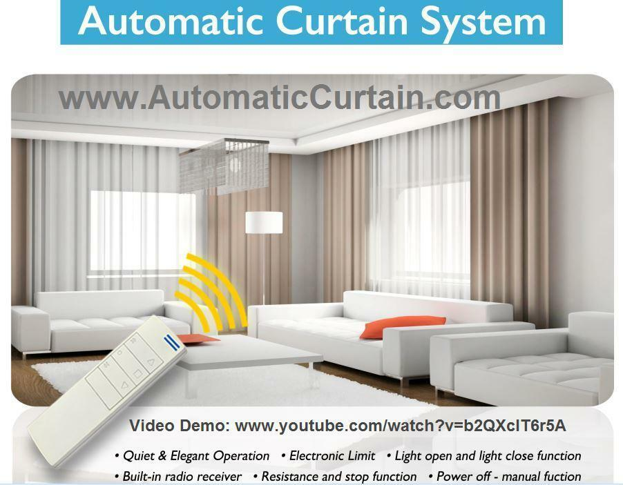 Electric Remote Controlled Drapery System W 10 39 Track