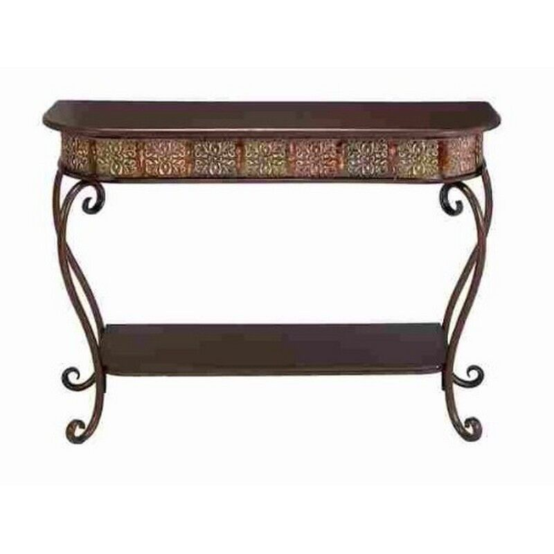 Deco 79 metal wood console table 32 by 43 inch new ebay for 65 sofa table