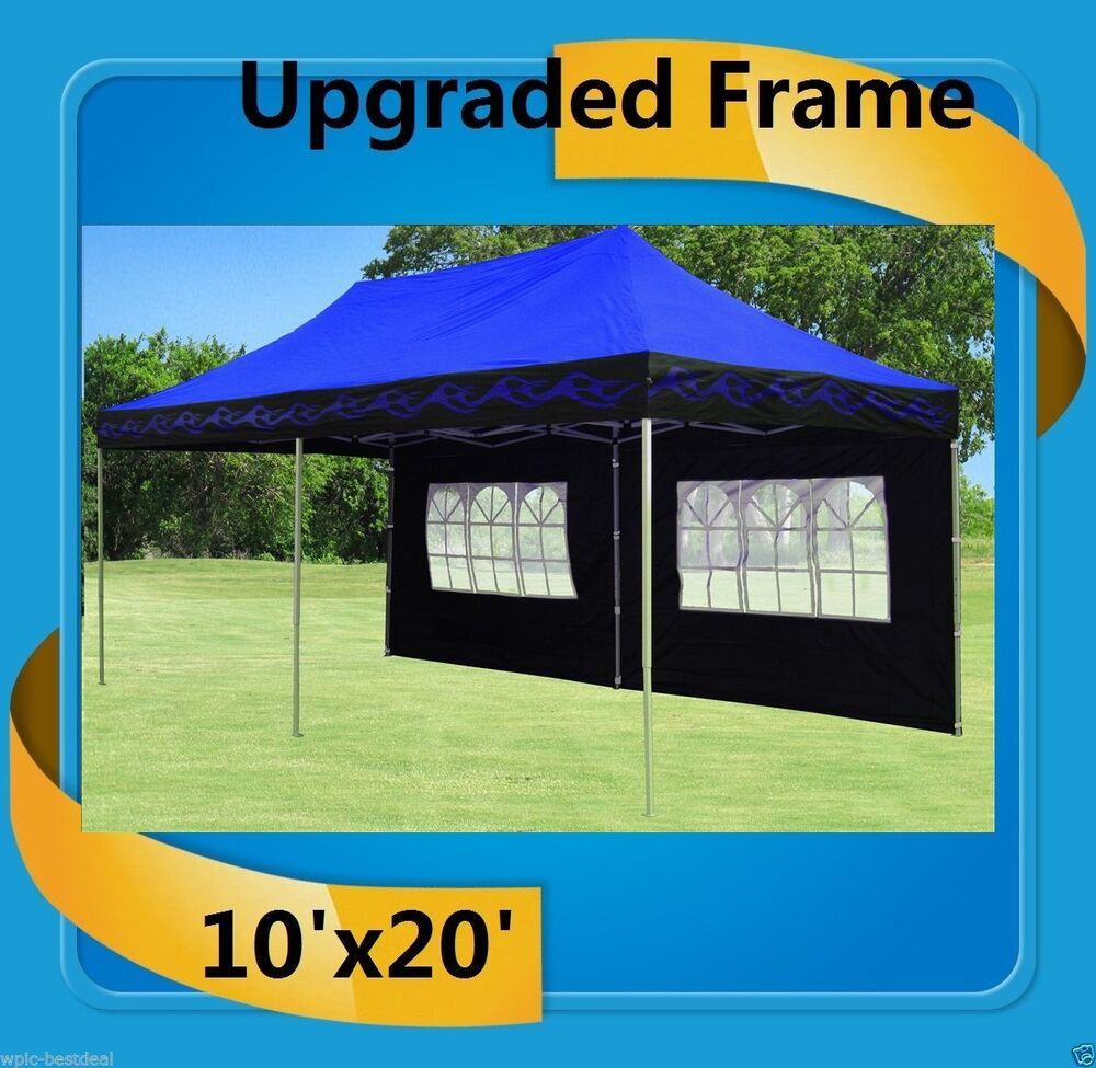 10 X20 Pop Up Canopy Party Tent Ez Blue Flame F Model