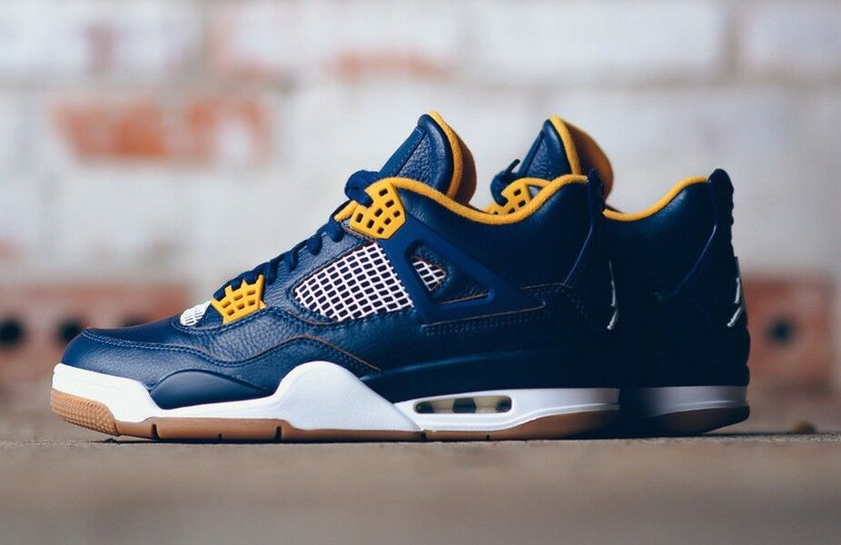 size 40 6d992 fb2b2 Details about Air Jordan 4 IV Retro Dunk From Above Midnight Navy Metallic  Gold LF 308497-425