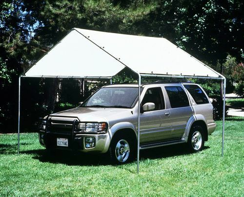 Car Canopy Steel Frame : Heavy duty canopy kit tarp carport cover with