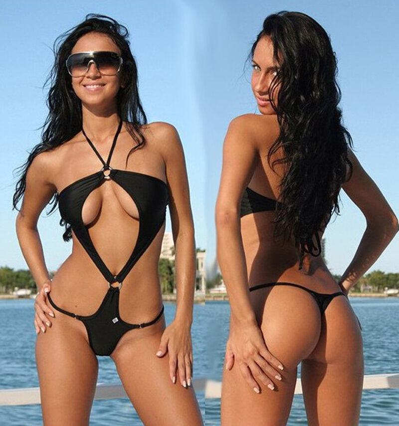 Sexy Monokini Women Thong Swimsuits Backless Swimwear