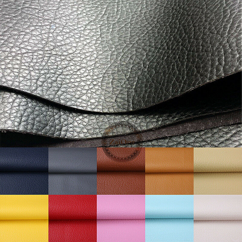 Soft Pu Leather Upholstery Fabric Textured Faux Vinyl Car