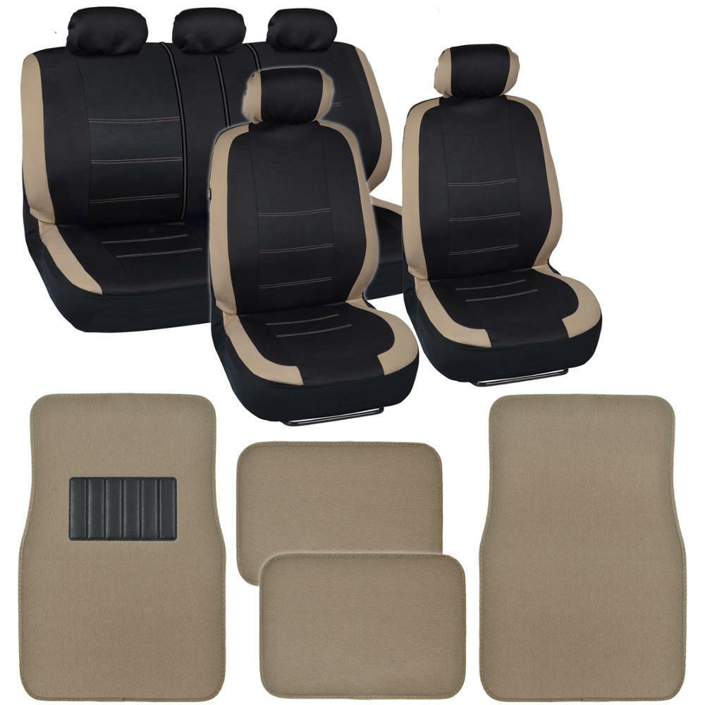 Black Amp Tan Car Seat Covers W Split Bench Amp Solid M