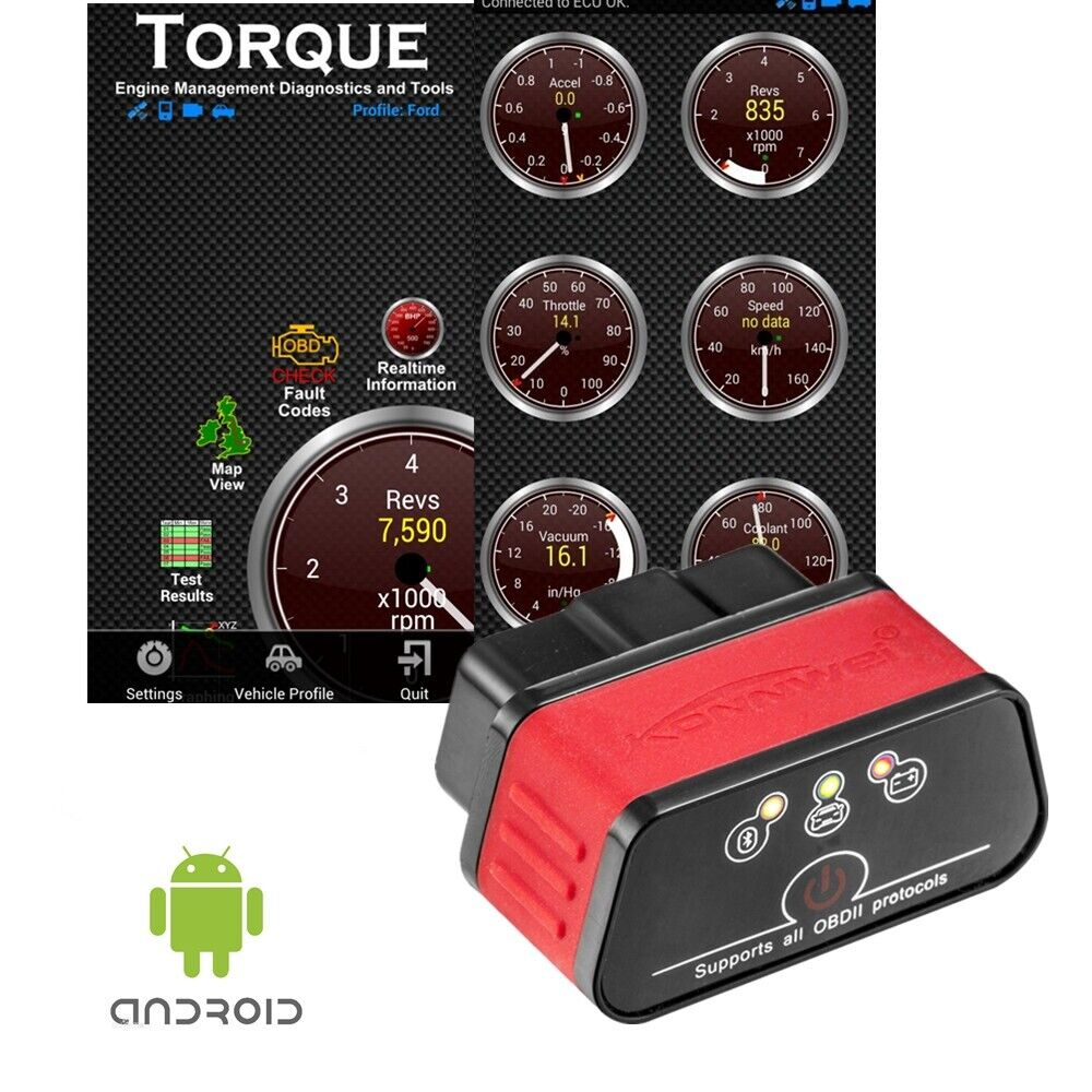 Kw903 Elm327 Bluetooth Obdii Obd2 For Android Car Auto