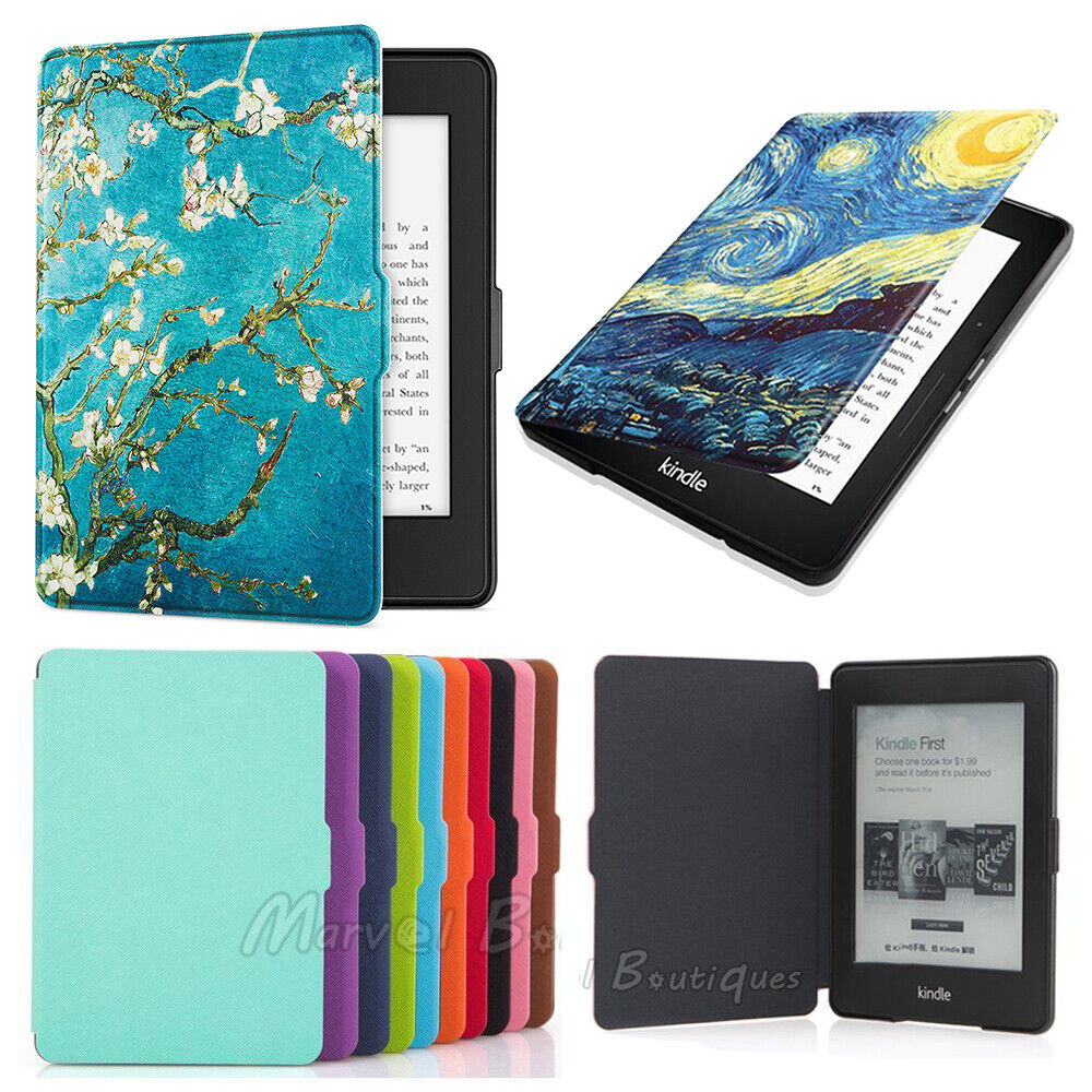 Magnetic Leather Smart Case Cover For Amazon Kindle 6