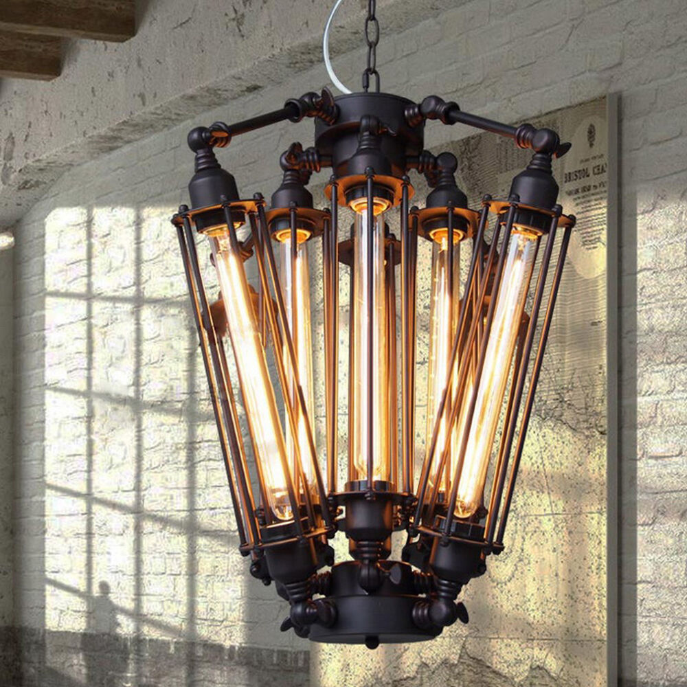 Vintage Industrial Ceiling Light Lamp Chandelier Edison 8