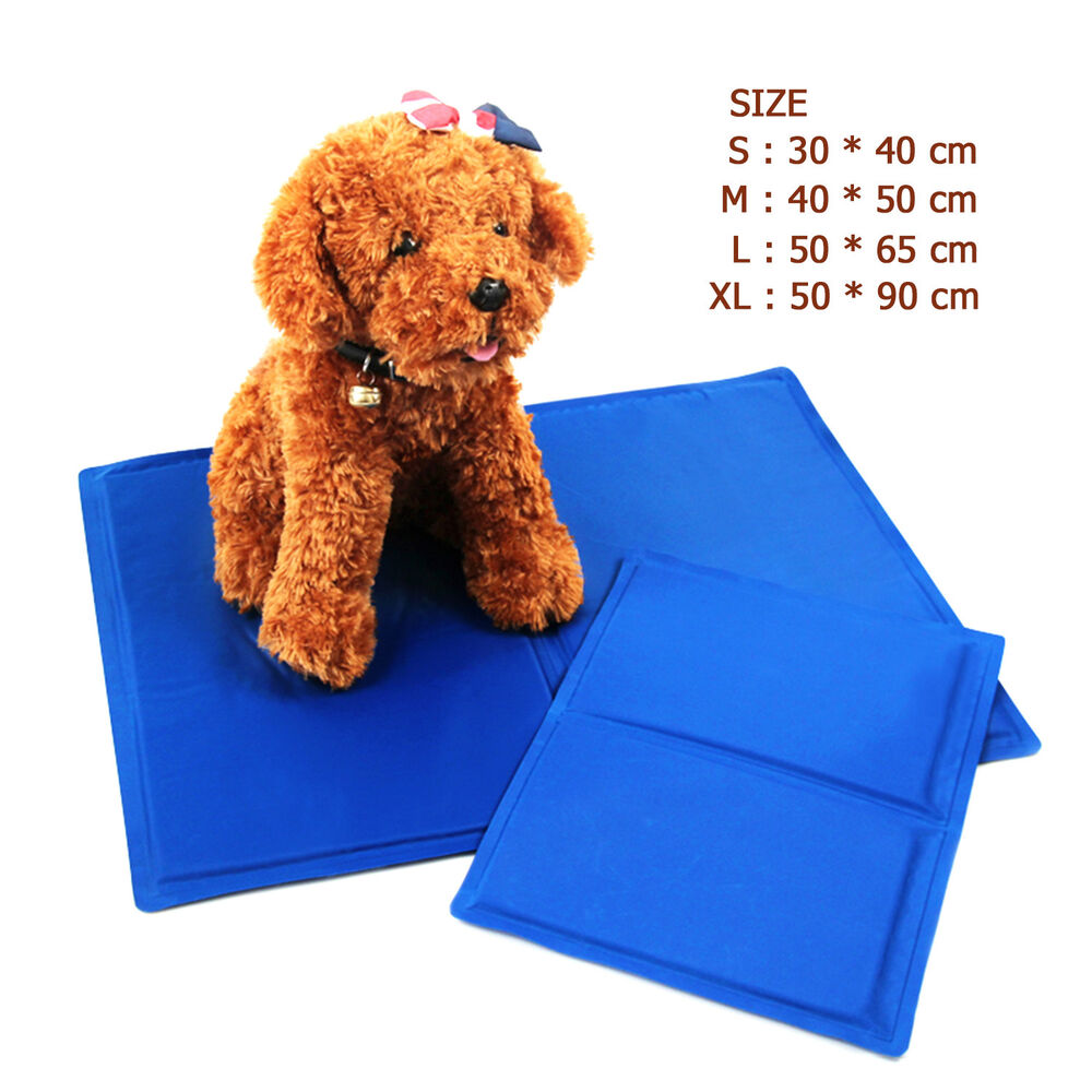 new blue ice cool mat pet dog cat cooling bed ice pad. Black Bedroom Furniture Sets. Home Design Ideas