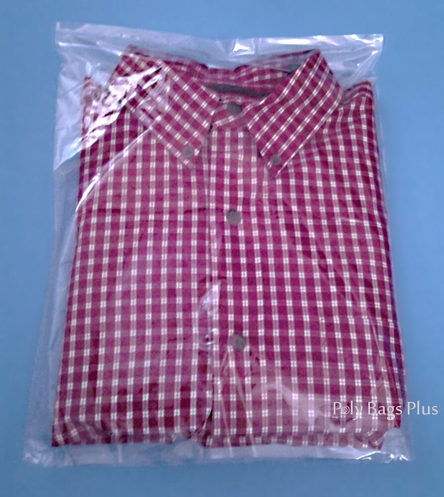 300 clear poly t shirt 200 9x12 100 11x14 apparel flat for Clear plastic dress shirt bags