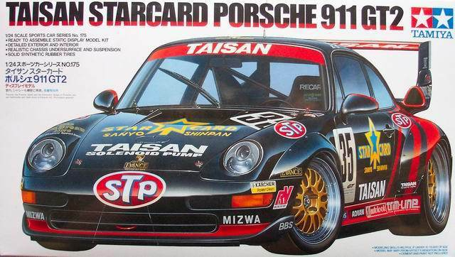 tamiya 24175 1 24 model car kit team taisan porsche 911 gt2 starcard jgtc 39. Black Bedroom Furniture Sets. Home Design Ideas