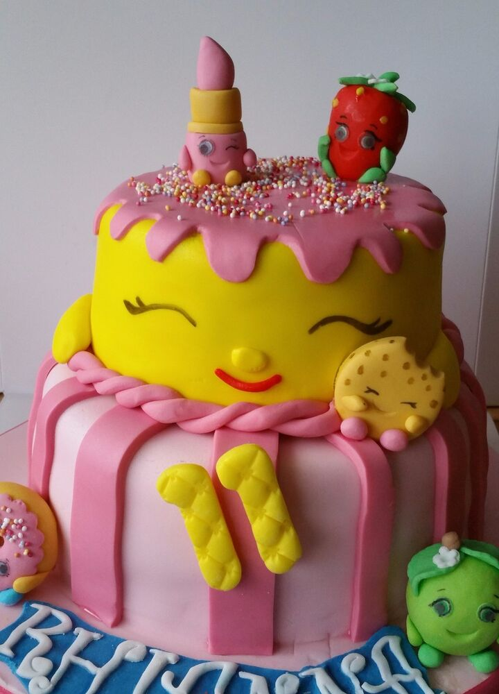 Cake Decorations Edible Pictures : Shopkins cake toppers edible decoration personalised ...