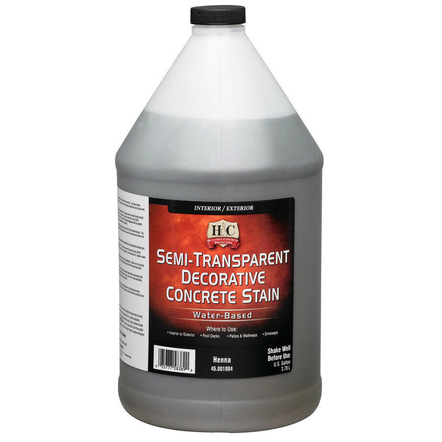 H C Gallon Henna Concrete Stain Interior And Exterior Use Pool Decks Driveway Ebay