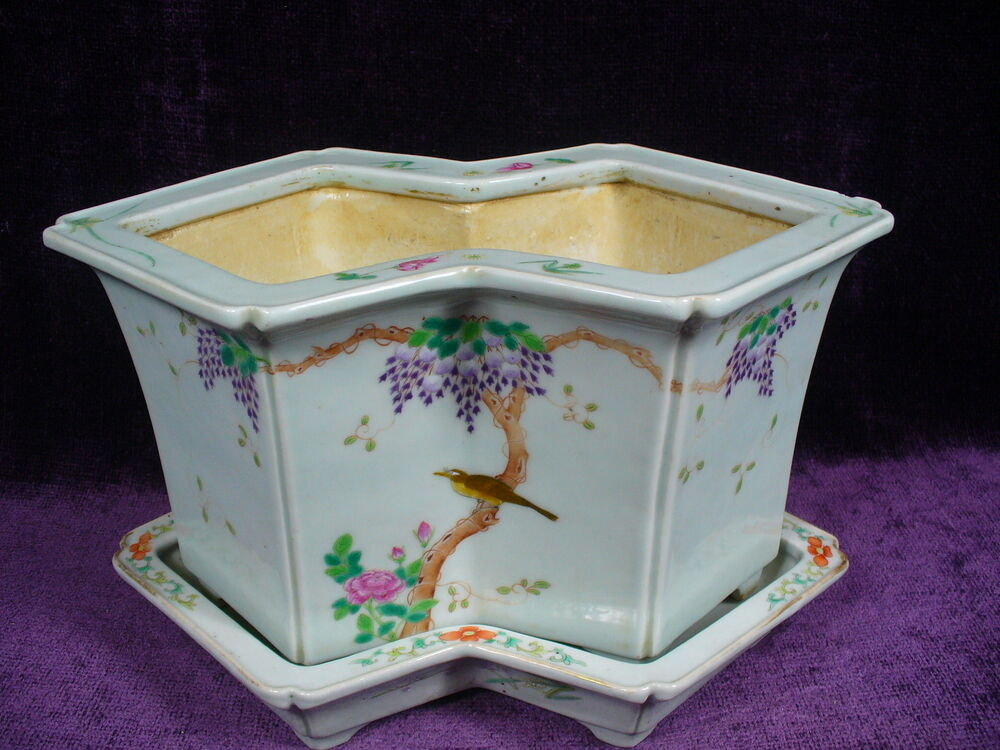 Antique Chinese Famille Rose Porcelain Planter Daoguang