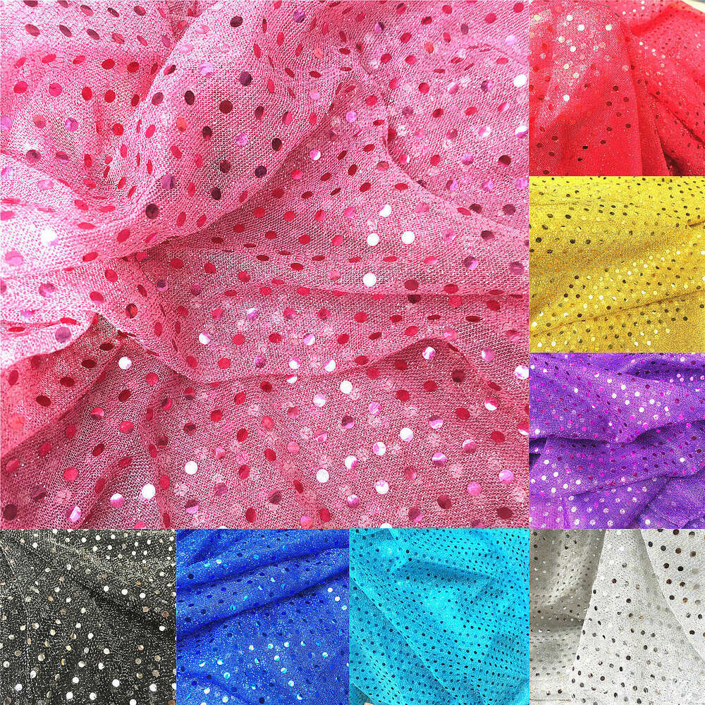 Glitz 3mm sequin fabric shiny sparkly dress material for Sparkly fabric