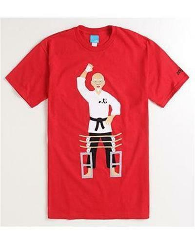 Enjoi Skateboard Board Breaker Karate Tee Mens Red T Shirt