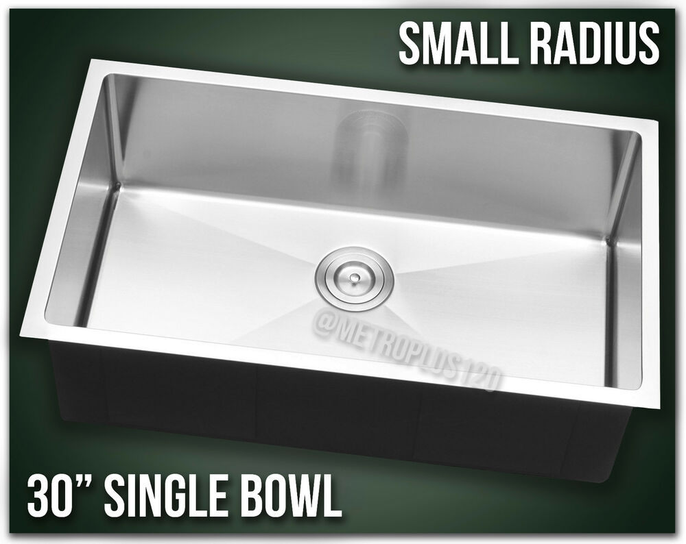 30quot Single Bowl Undermount 16 Gauge Stainless