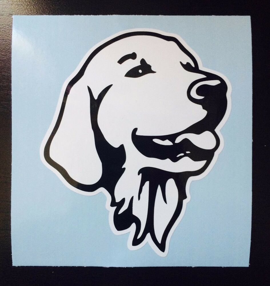 Golden Retriever Head Portrait Dog Pet Vinyl Decal Car