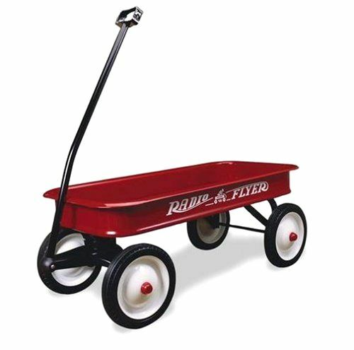Wagons For Toys : Radio flyer classic red wagon vintage steel kids toy