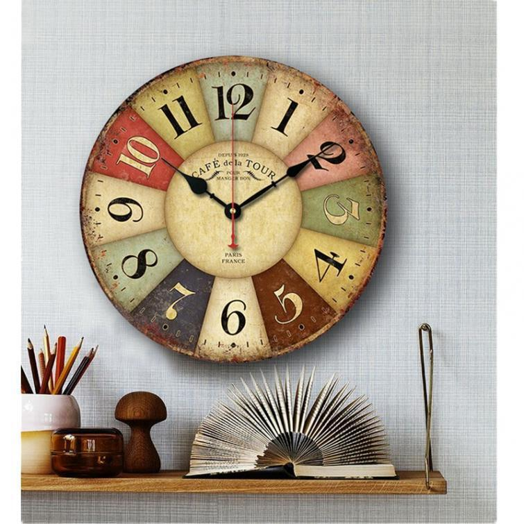 kitchen wall clocks large vintage rustic wooden wall clock kitchen antique 30188