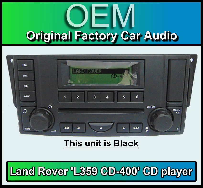 land rover range rover sport cd player radio l359 cd 400 car stereo warranty ebay. Black Bedroom Furniture Sets. Home Design Ideas