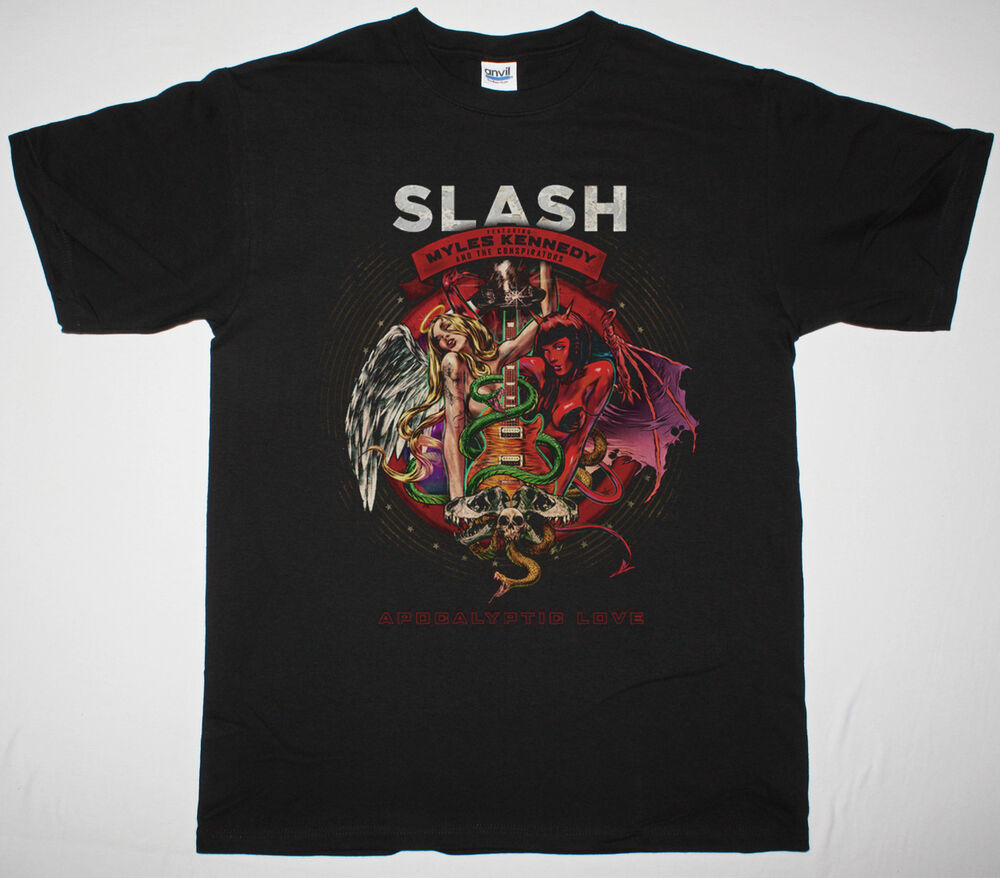 slash feat myles kennedy and the conspirators apocalyptic love black t shirt ebay. Black Bedroom Furniture Sets. Home Design Ideas