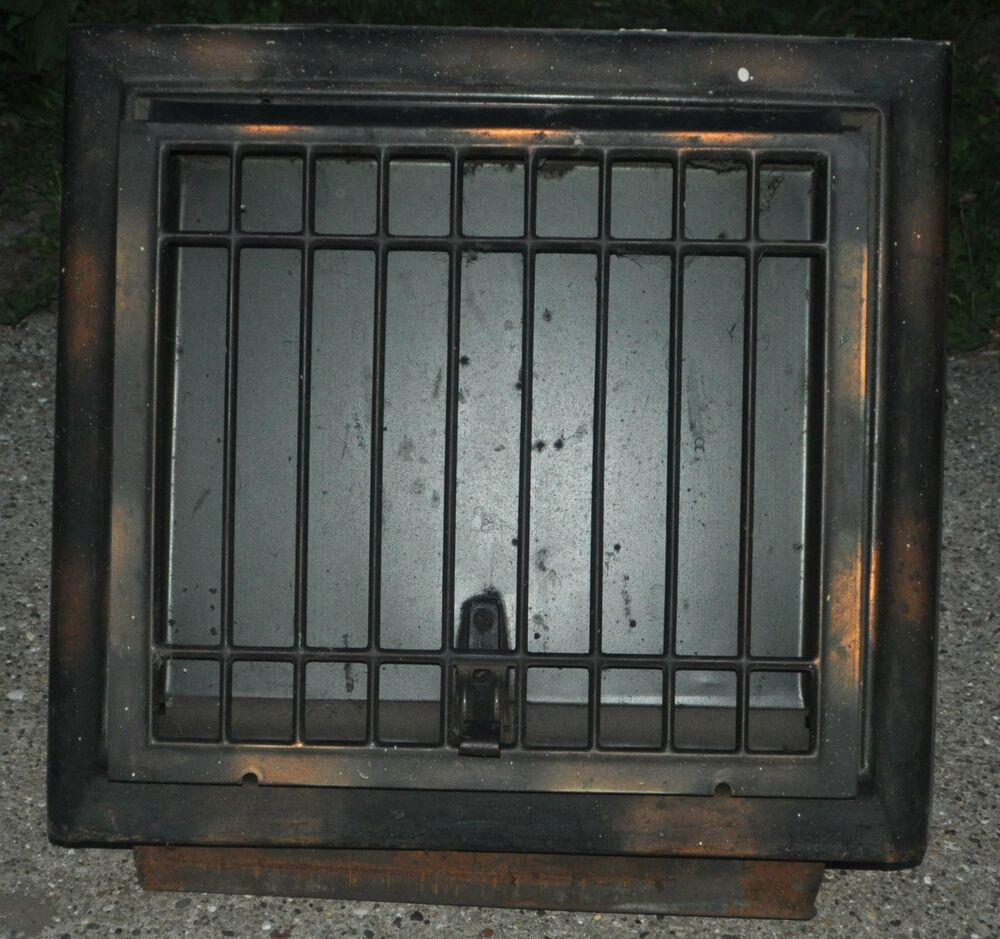 Antique Metal Wall Cold Air Return Heat Vent Grate