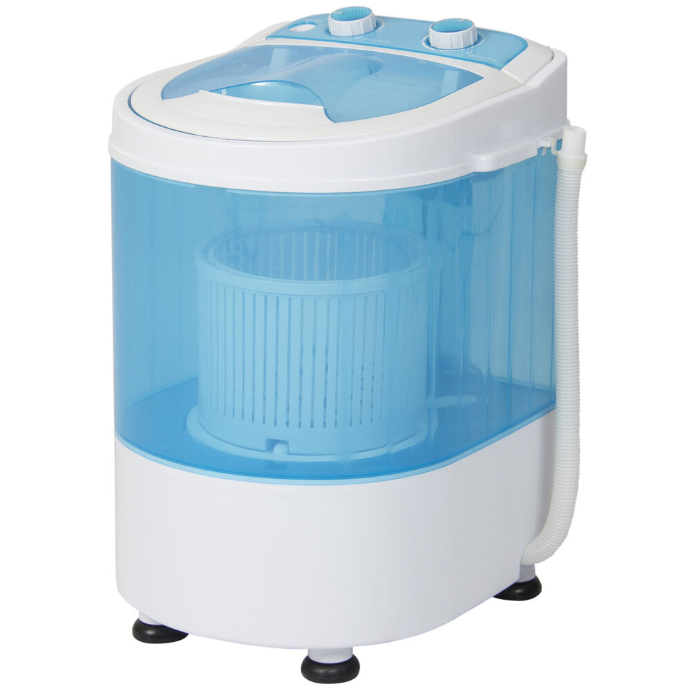 Portable mini small compact electric washing machine laundry spin 6 6 lbs washer ebay - Small space washing machines set ...