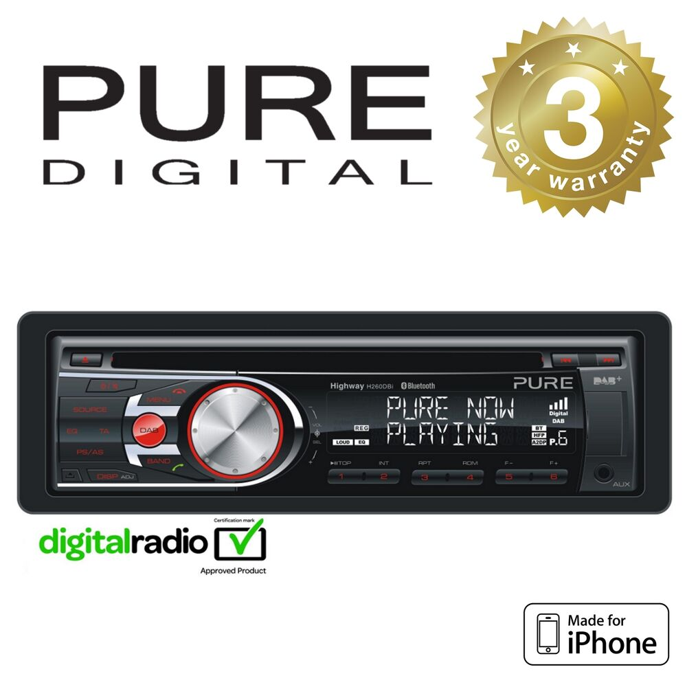 Pure DAB+ Radio Car Headunit Stereo CD Player With IPhone