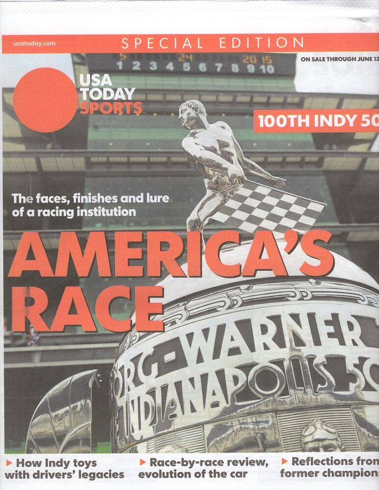 Indy 500 indianapolis motor speedway program usa today for Indianapolis motor speedway clothing