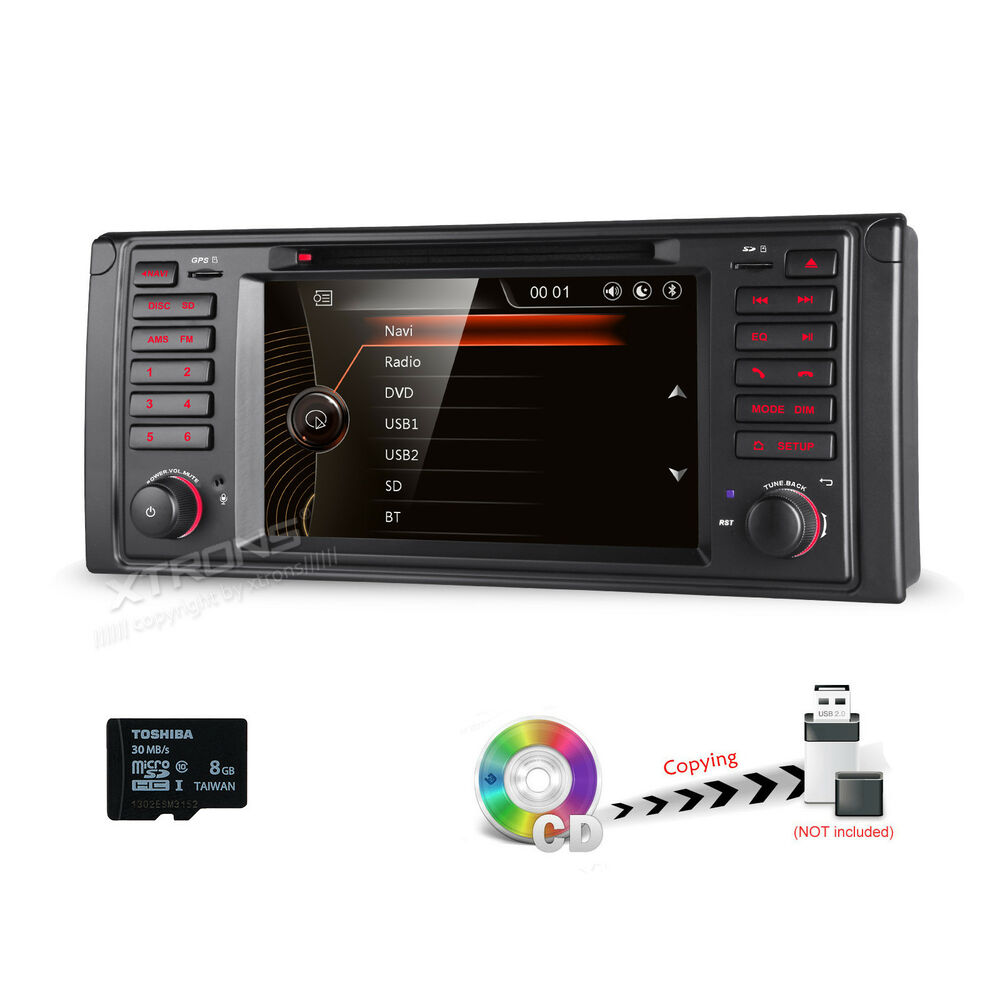 for bmw 5 series e39 car gps navigation system stereo dvd. Black Bedroom Furniture Sets. Home Design Ideas