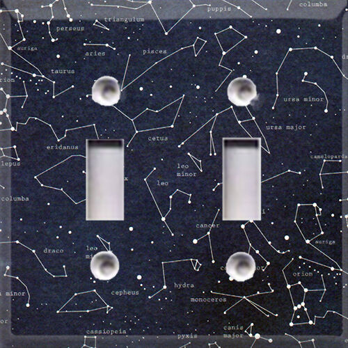Constellation stars light switch cover home decor choose for Outer space home decor