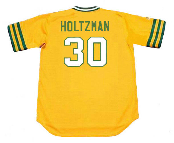 Oakland Athletics Cooperstown Majestic Cool Base Retro Green Jersey Maglia