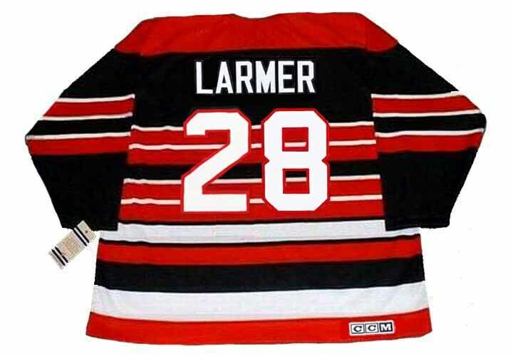 af30f6bcb STEVE LARMER Chicago Blackhawks 1992 CCM Vintage Throwback NHL Hockey  Jersey