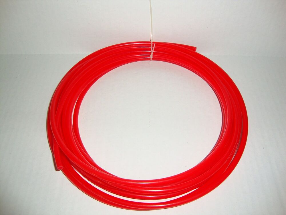 25ft 1 4 ro polyethylene red tube pipe hose tube25 rd ebay. Black Bedroom Furniture Sets. Home Design Ideas