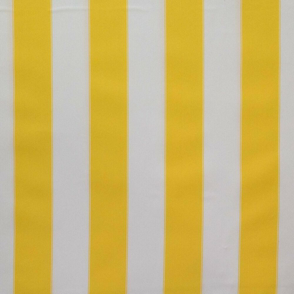 Outdoor Upholstery Waterproof Canvas Fabric Yellow White