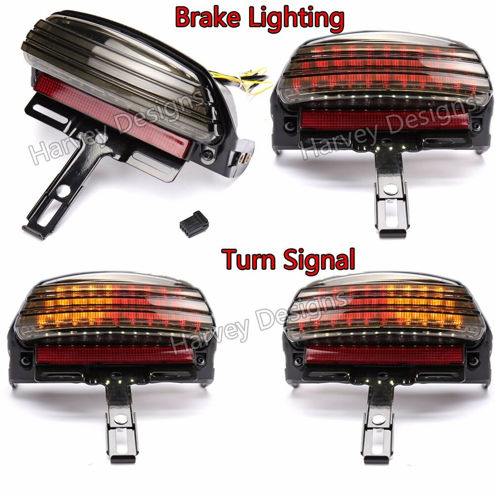 Tri Bar Fender Led License Plate Bracket Tail Light Signal