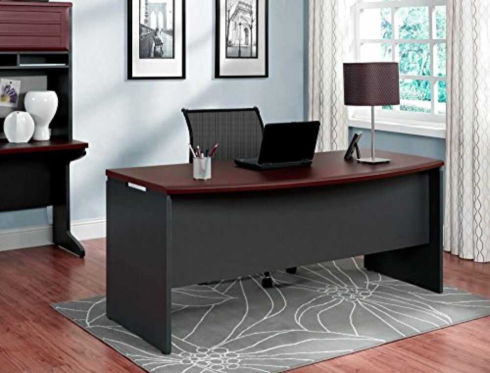 Executive office desk home business furniture large modern for Home office furniture images