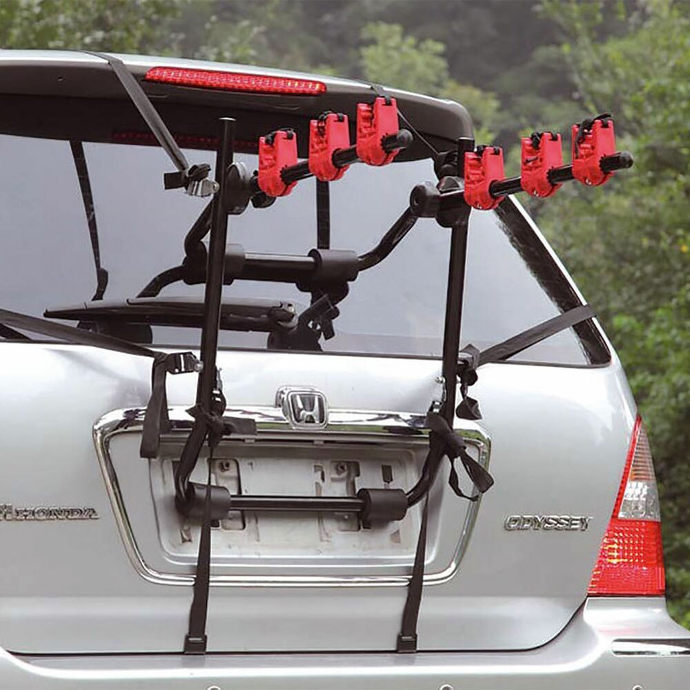 Universal 3 bicycle carrier car rack bike cycle fits most for Is a bicycle considered a motor vehicle