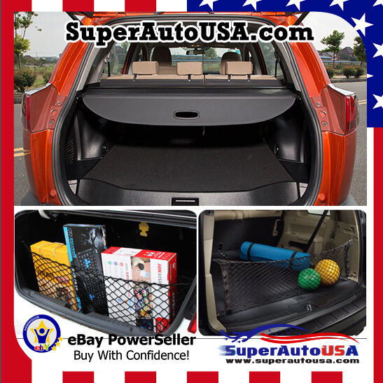 2013 2016 toyota rav4 rear trunk black oe style retractable cargo cover and net ebay. Black Bedroom Furniture Sets. Home Design Ideas