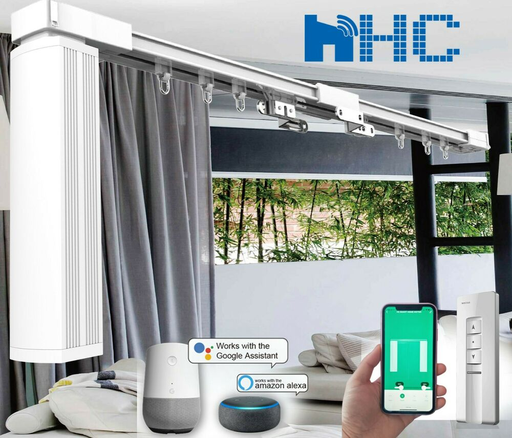 20 39 Remote Control Automatic Motorized Electric Blinds Curtain Track 201 240 Ebay