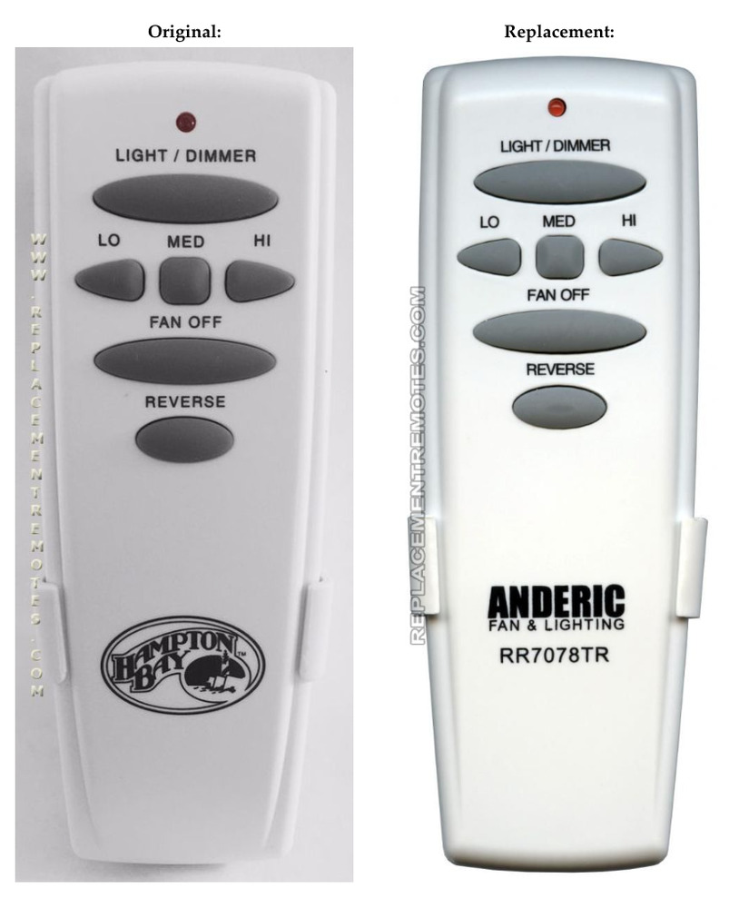 Hampton Bay Replacement Ceiling Fan Remote Control For