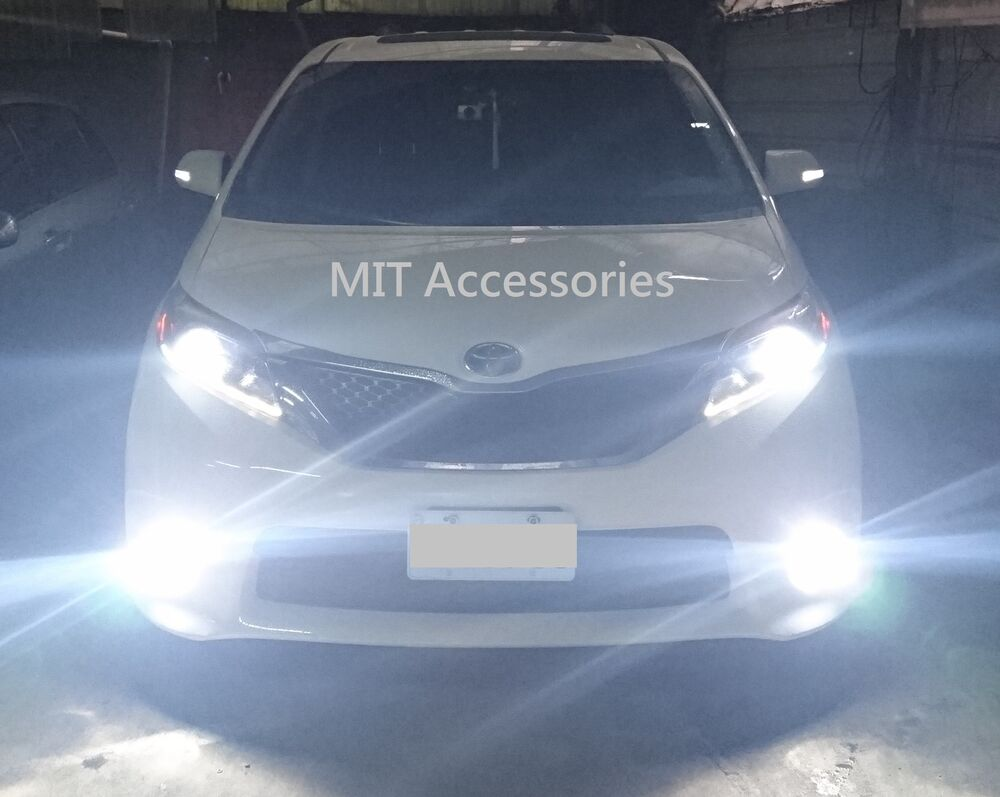 mit toyota sienna 2011 2017 h11 led lights turbo light 6000k for fog lamp ebay. Black Bedroom Furniture Sets. Home Design Ideas