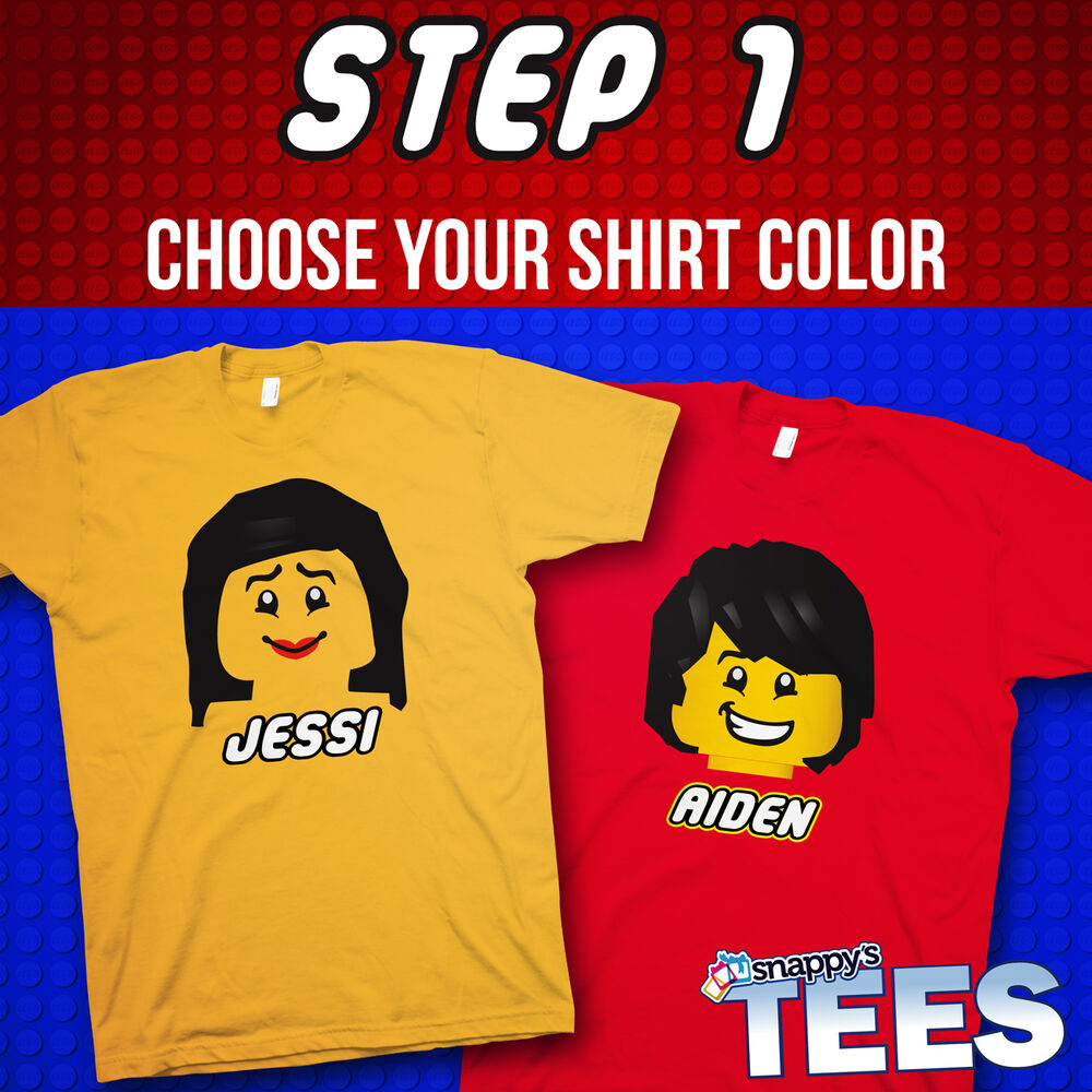 21992845 Details about Personalized - Build Your Own LEGO Tee - Kids Party Theme  Graphic T-Shirt