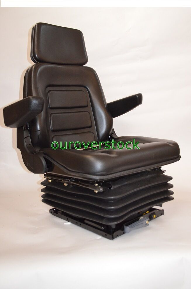 Heavy Equipment Suspension : New suspension seat with armrest fits excavator forklift
