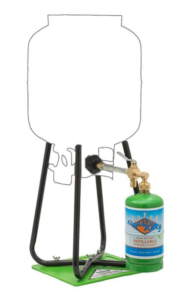 One 1 Lb Refillable Propane Cylinder with Home Refill Adapter Kit