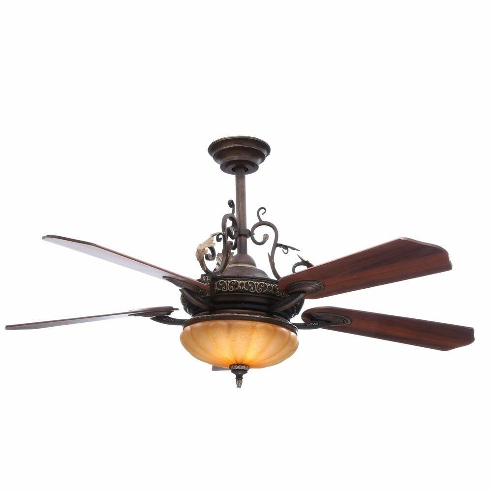 Hampton Bay Bedroom 52 Quot Walnut Ceiling Fan With Light Kit And Remote Ebay