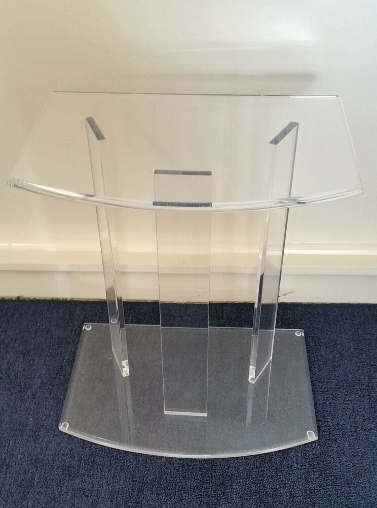 Clear Acrylic Lucite Pedestal Base Side Or Accent Table Ebay