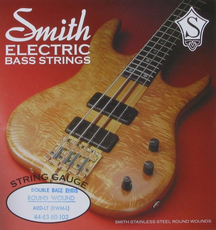 ken smith db rwm l double ball end bass guitar strings med light 4 39 s 44 102 ebay. Black Bedroom Furniture Sets. Home Design Ideas