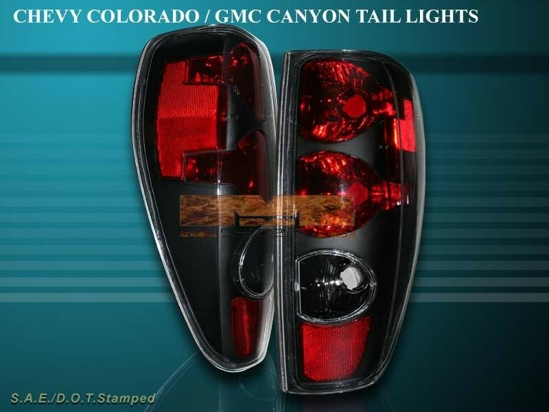 2004 2010 Chevy Colorado Gmc Canyon Tail Lights Black