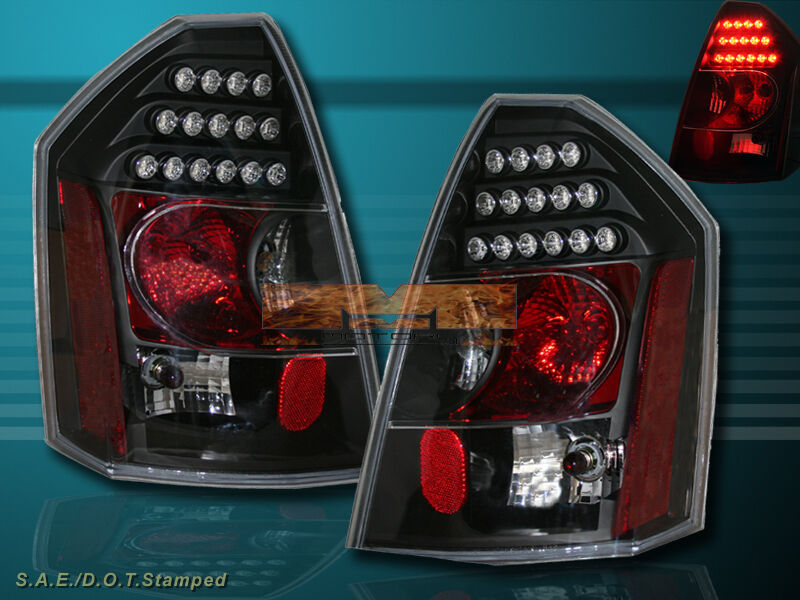 Led Truck Tail Lights >> 05 06 07 CHRYSLER 300C 300-C SRT8 BLACK LED TAIL LIGHTS ...